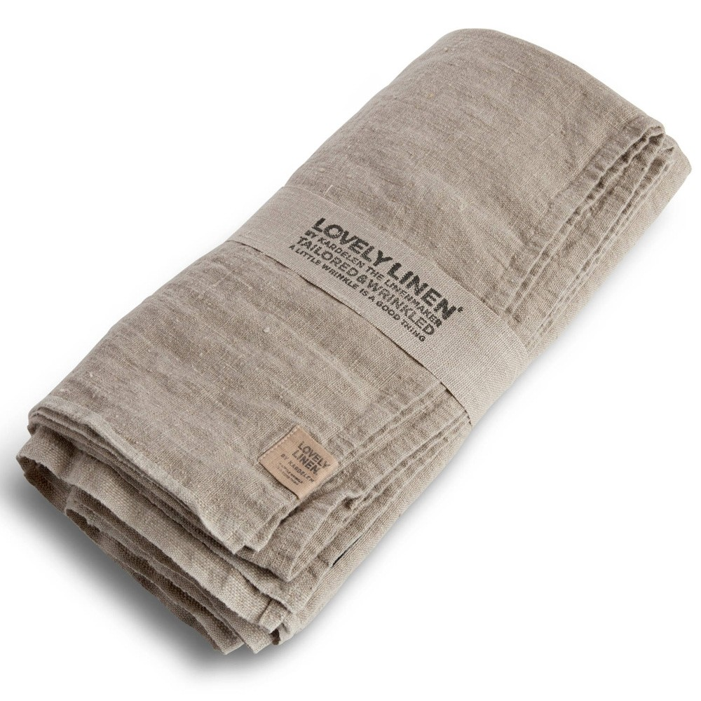 Lovely Linen Washed Linen Tablecloth Natural