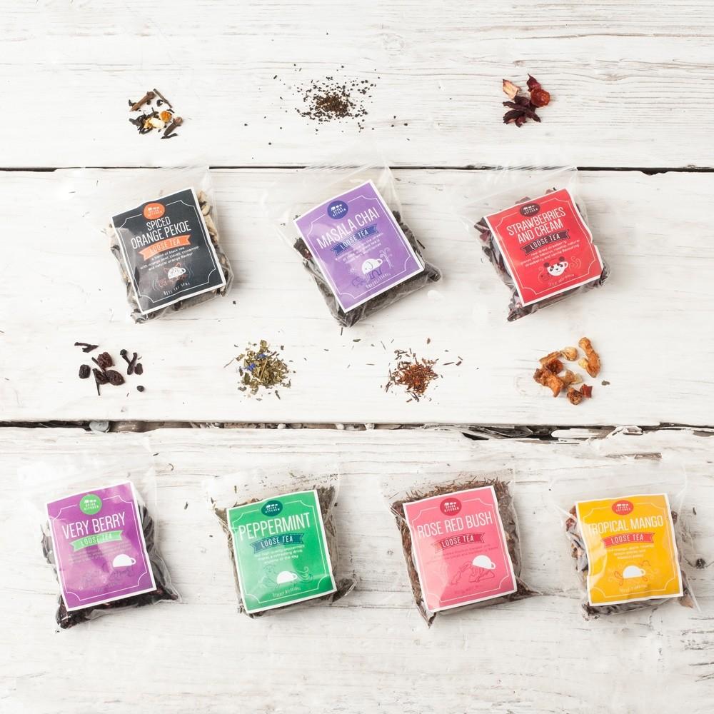 Spice Kitchen Masala Dabba Tin with Loose Tea Assortment