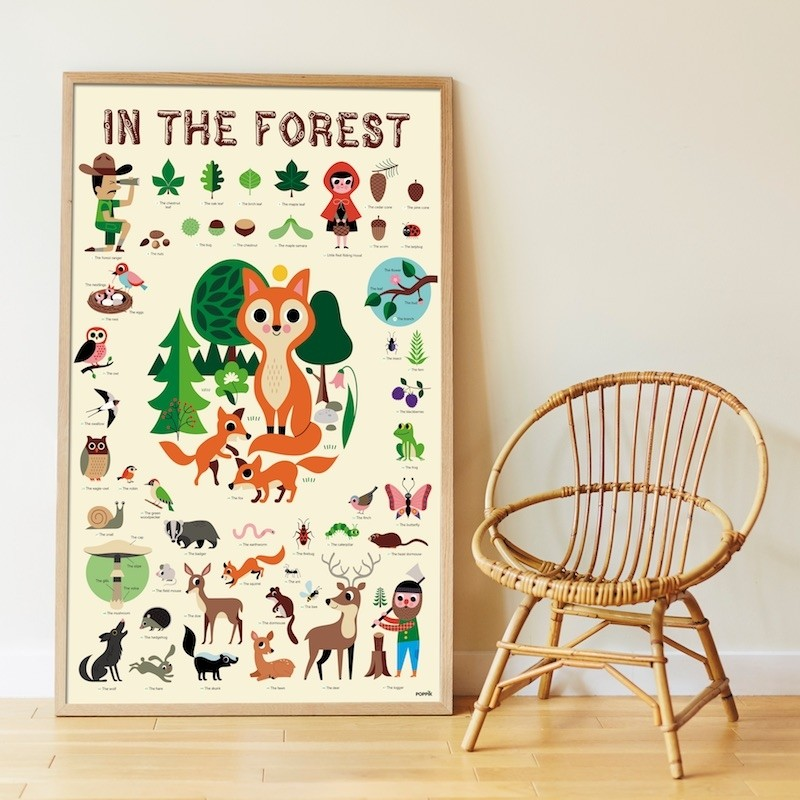 Poppik Discovery Forest Sticker Poster