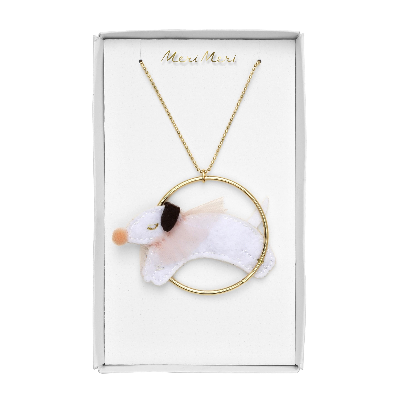Meri Meri Dog in a Hoop Necklace