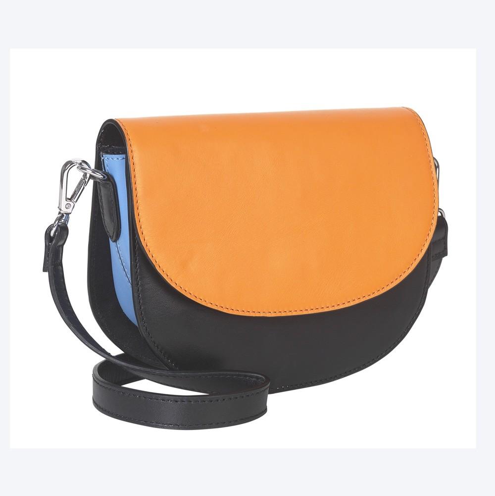 Becksondergaard Maci Shoulder Bag in Black/Orange