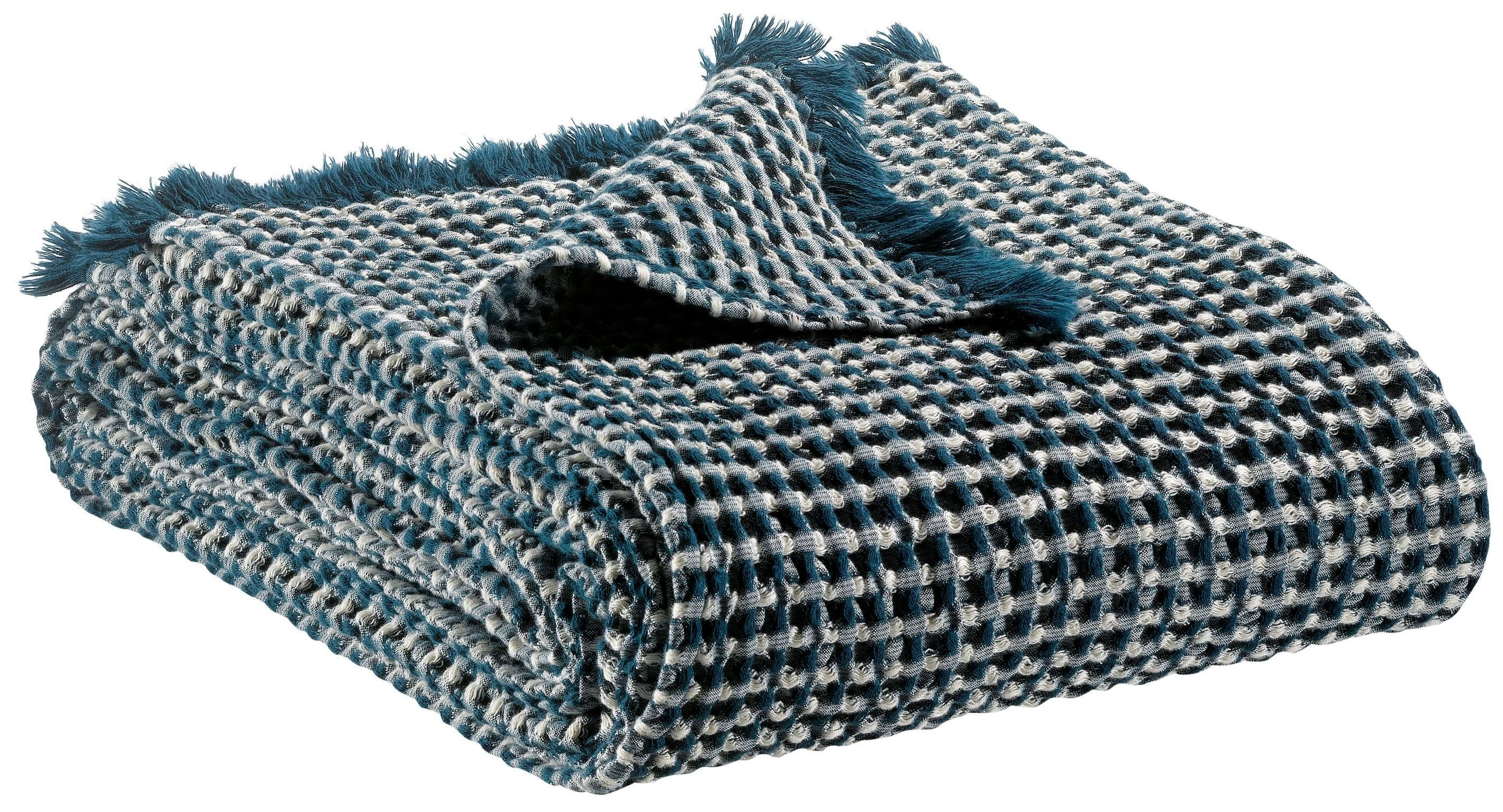 Vivaraise Naga Vichy Throw Outremer