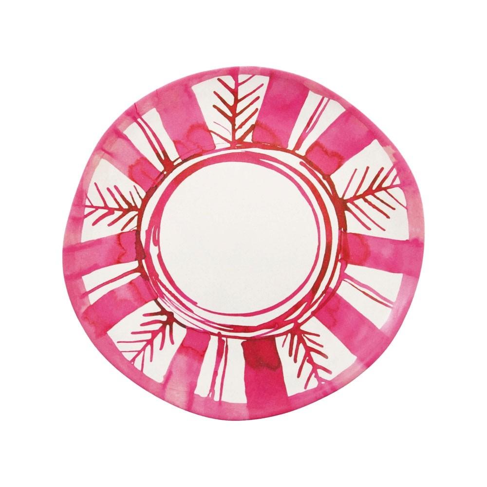 Klevering Anouk Bamboo Plate Deep Pink Arrow
