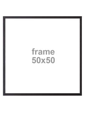 Vanilla Fly Black Frame 50x50cm