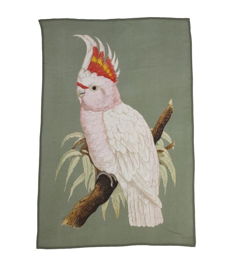 A La Printed Viscose Wall Hanging Parakeet