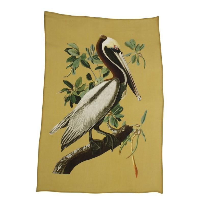 A La Printed Viscose Wall Hanging Heron