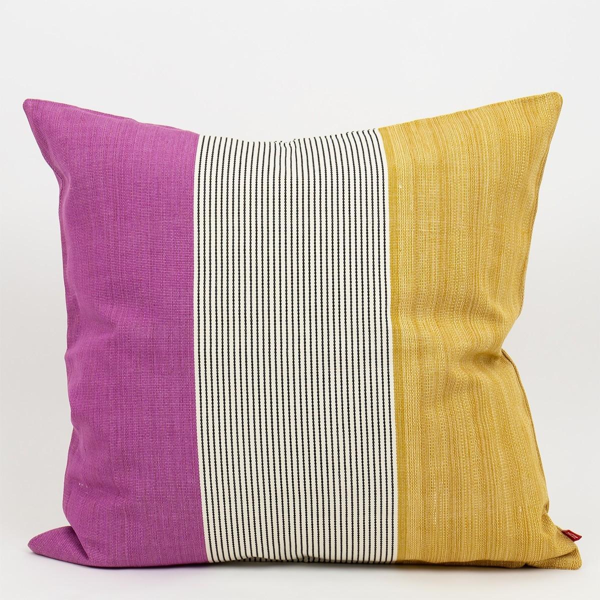 AfroArt Ace Cushion Mustard/Cerise