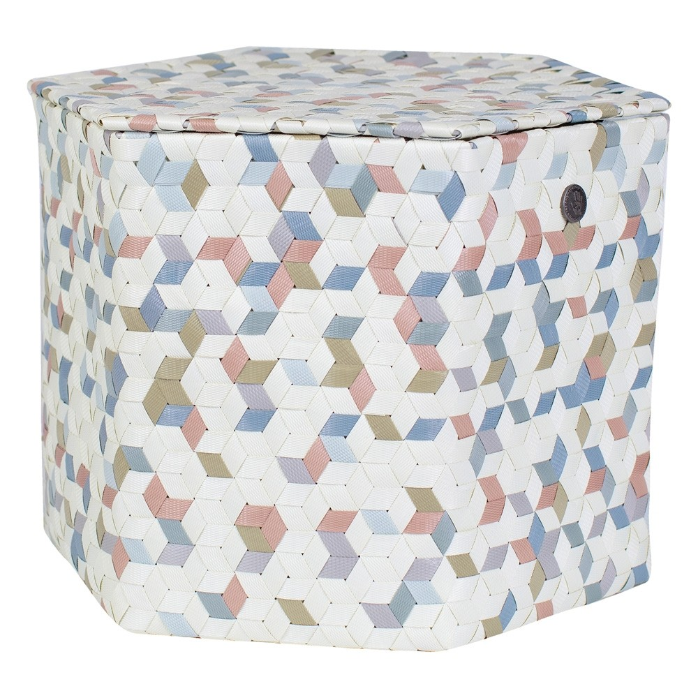 Handed By Terrazzo Basket with Lid Large