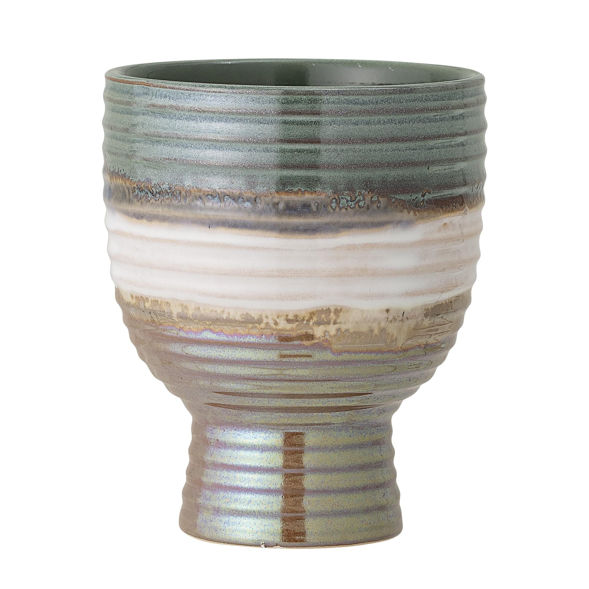Bloomingville Stoneware Multi-Coloured Flower Pot