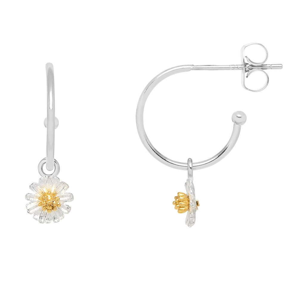 Estella Bartlett Wildflower Hoop Drop Earrings