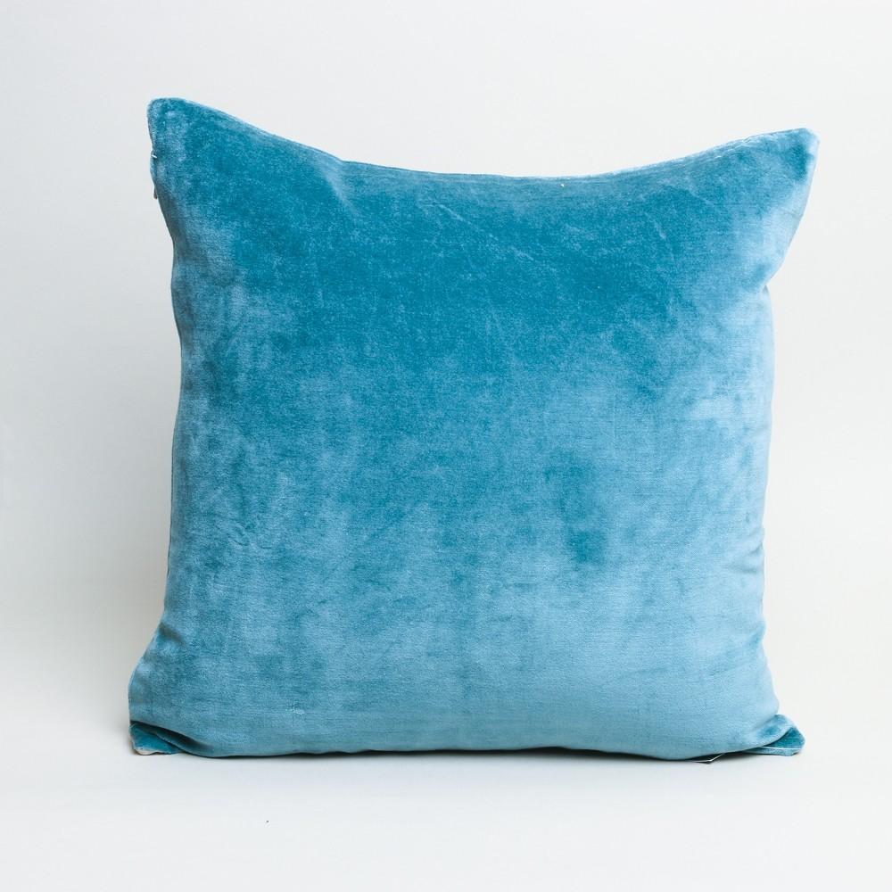 Vivaraise Elise Cotton Velvet Cushion Vert de Gris