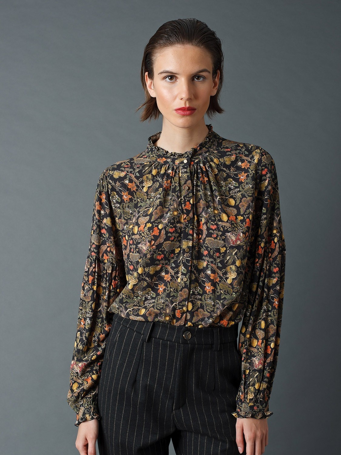 Shirt with Pomegranate Print