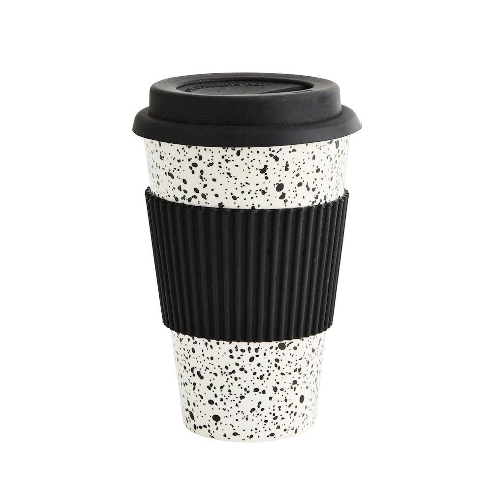 Madam Stoltz To Go Cup White/Black