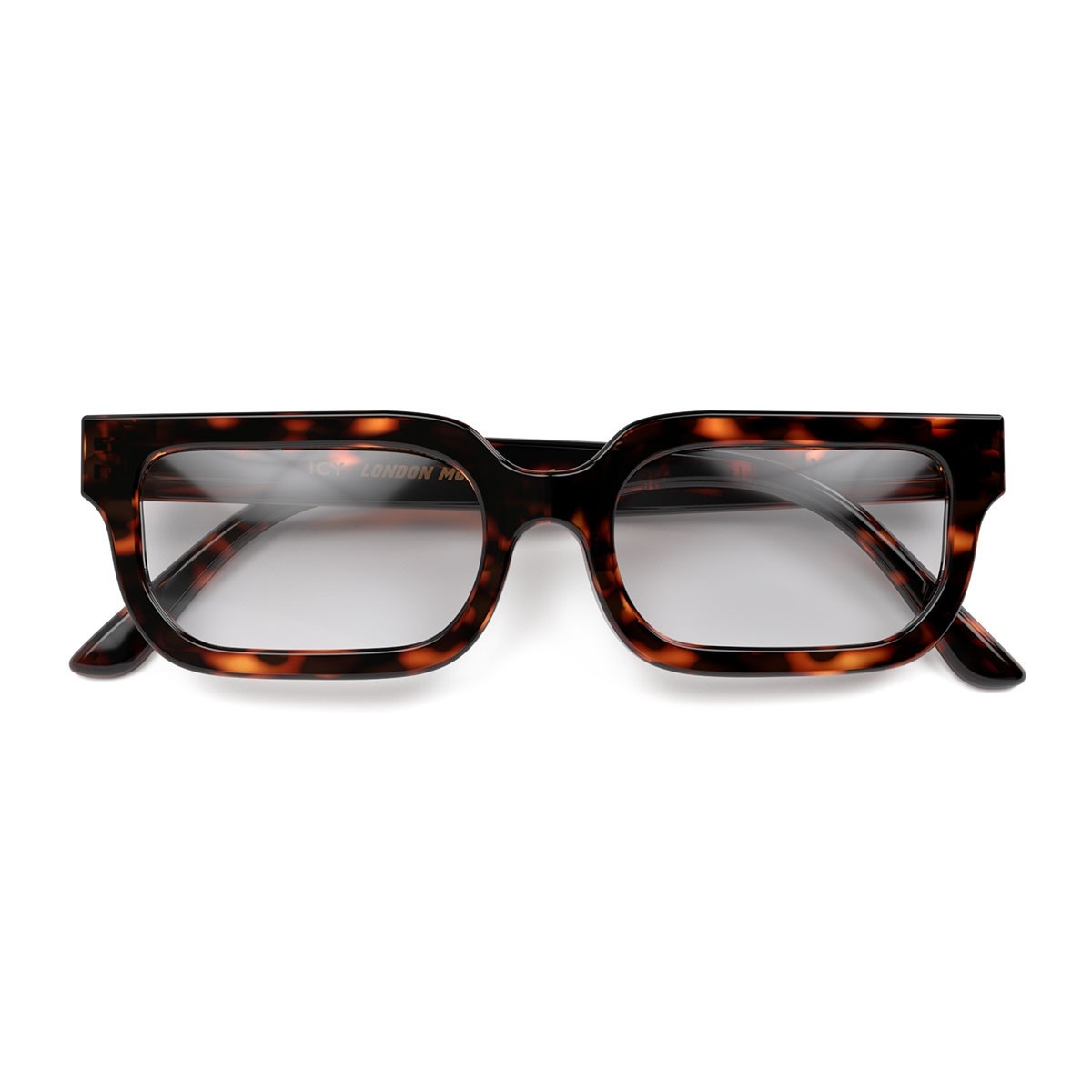 London Mole Icy Blue Blocker Glasses Tortoise Shell