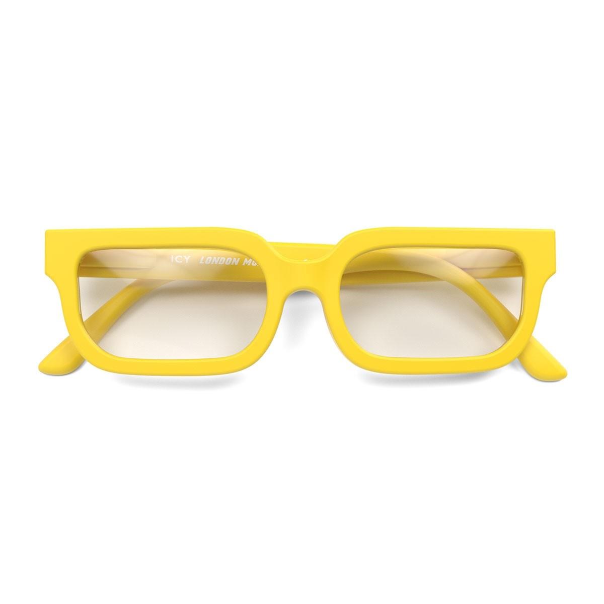 London Mole Icy Blue Blocker Glasses Yellow
