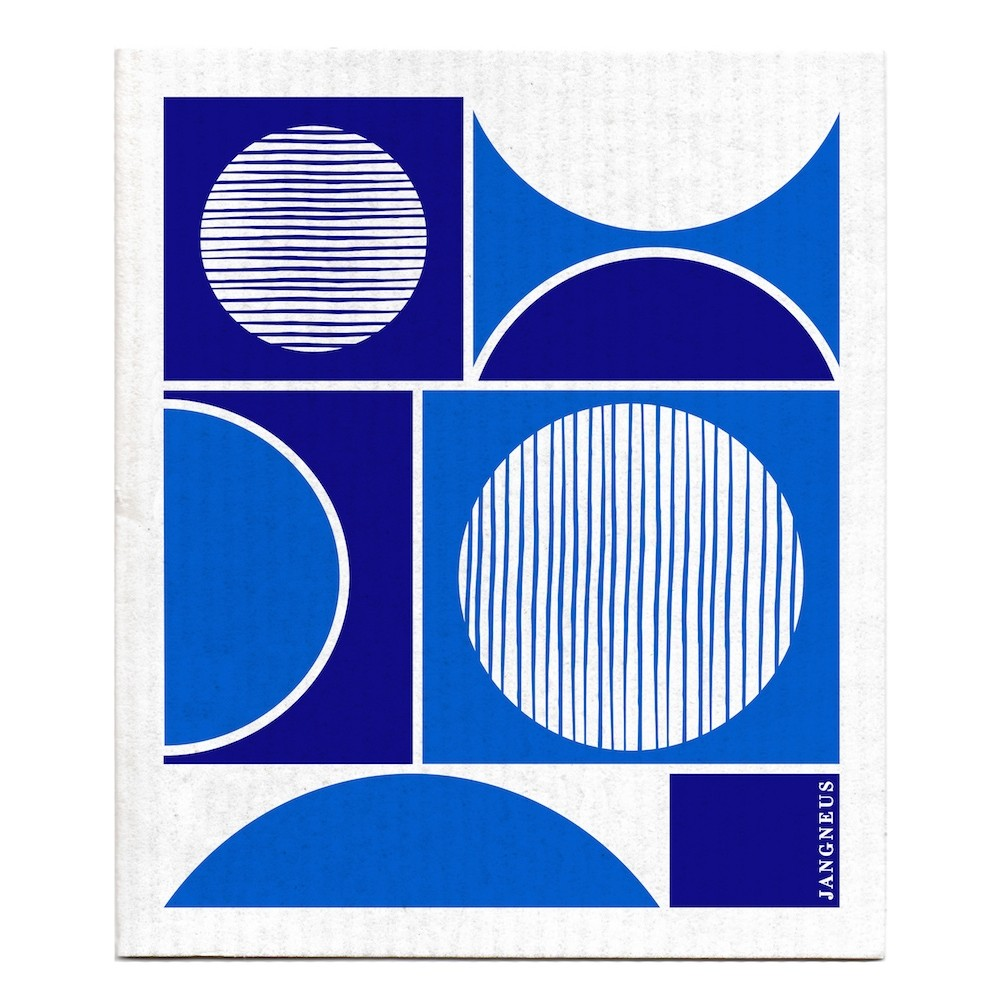 Jangneus Blue Circles Dish Cloth