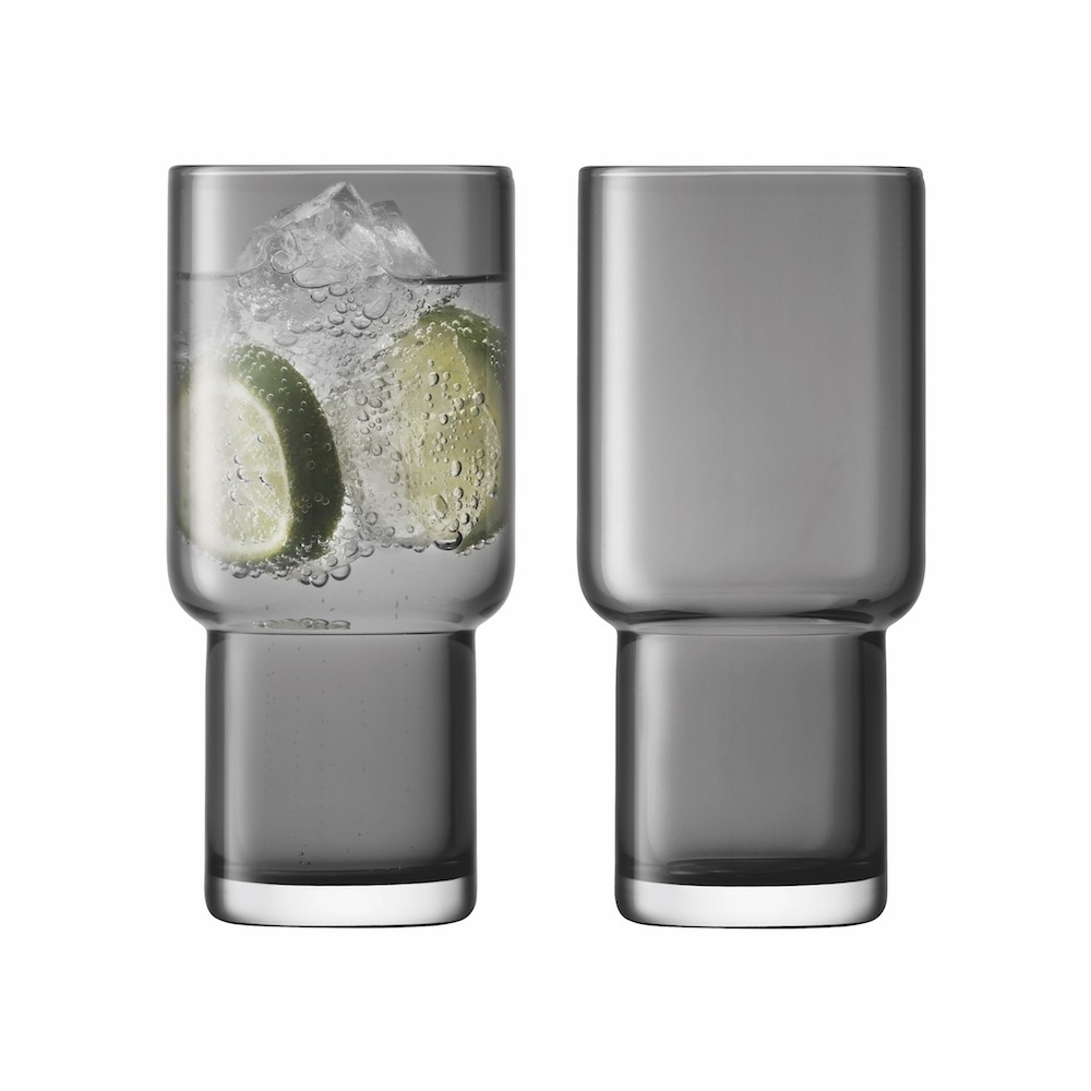LSA Utility Highball Glasses Slate set of 2