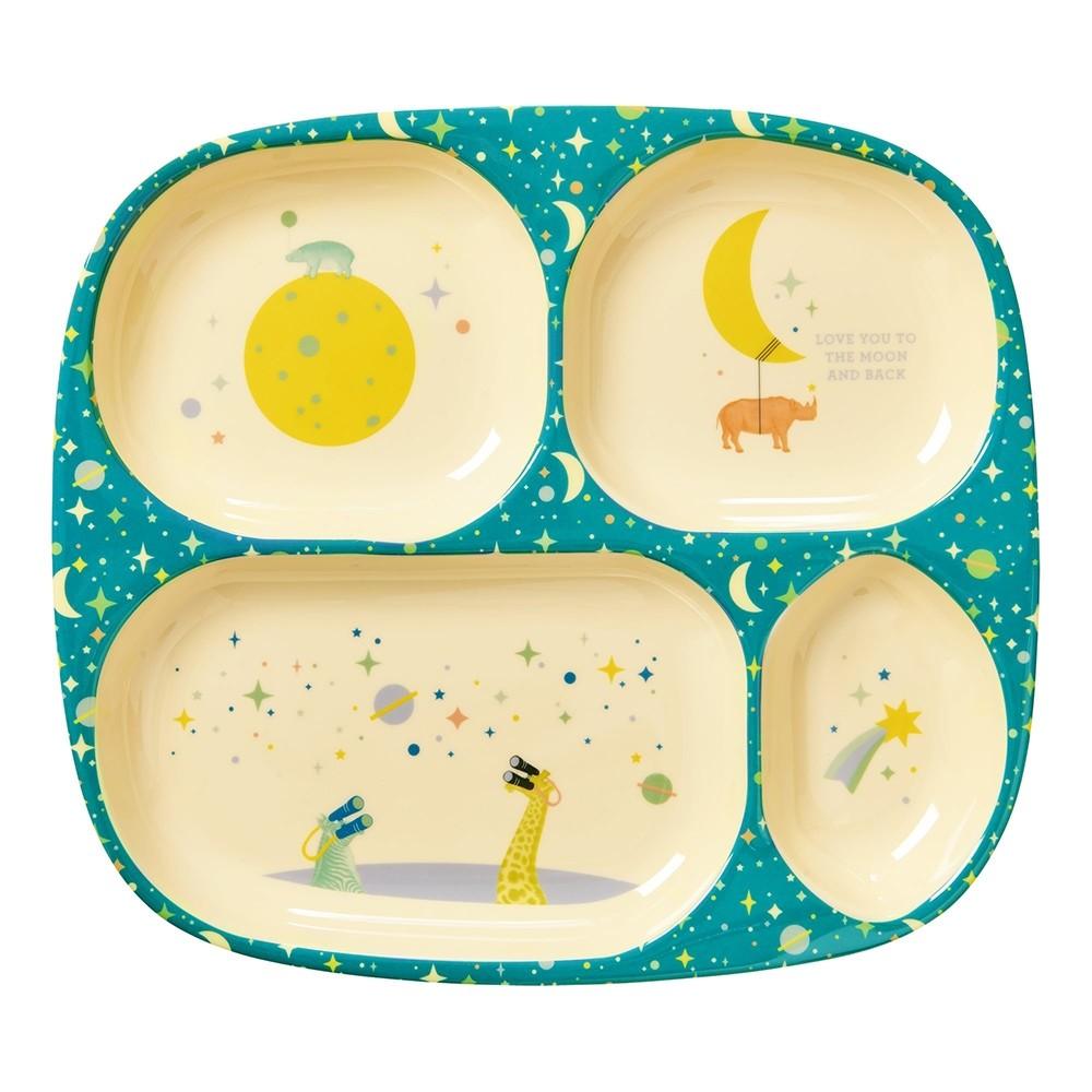 Rice 4-room Universe print melamine plate blue  sc 1 st  Printer + Tailor & Rice 4-room Universe print melamine plate blue - Printer + Tailor