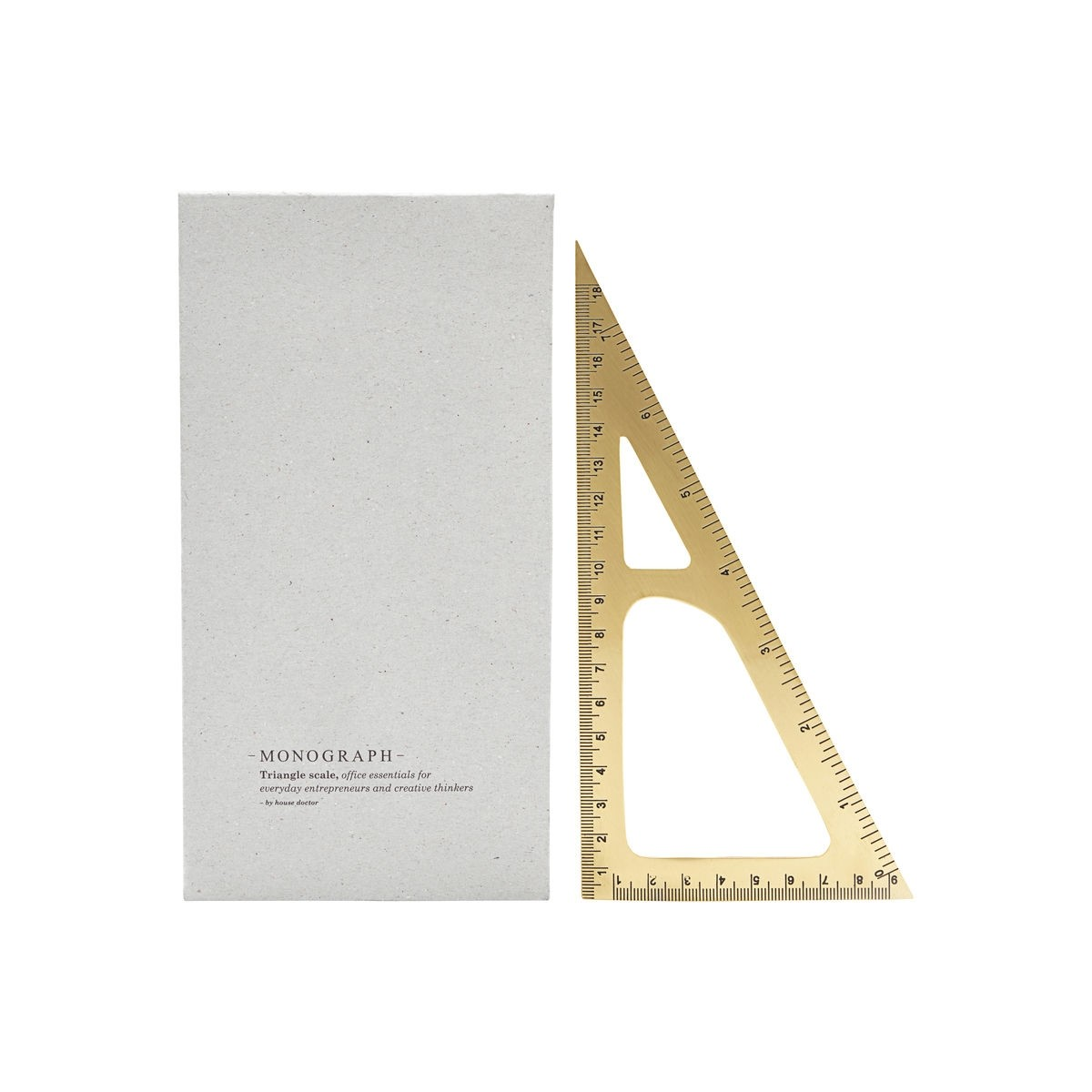 Monograph Brass Triangular Ruler