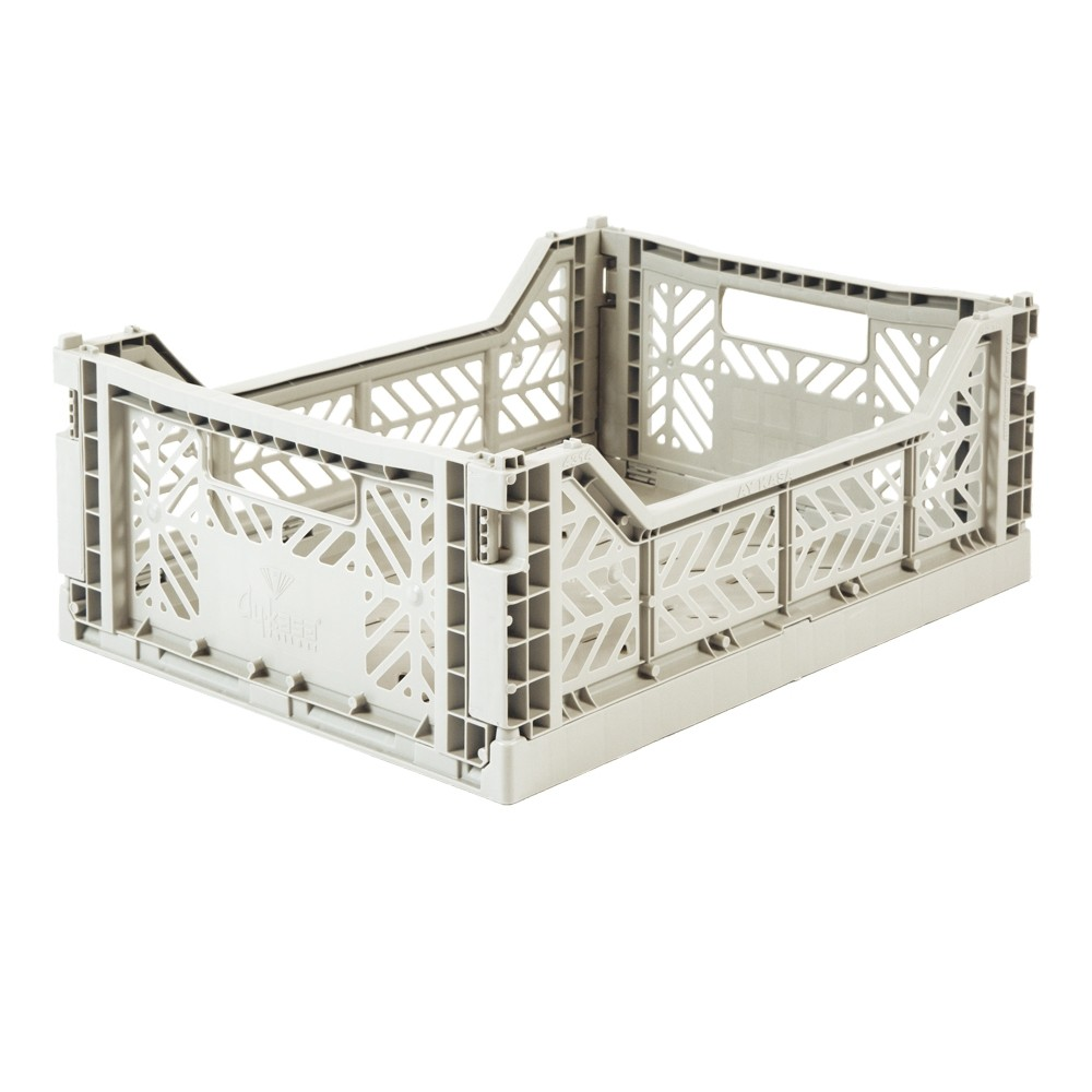 Aykasa Foldable Crate Midi Light Grey