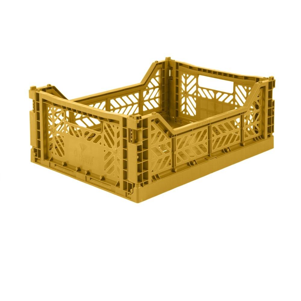 Aykasa Foldable Crate Midi Mustard