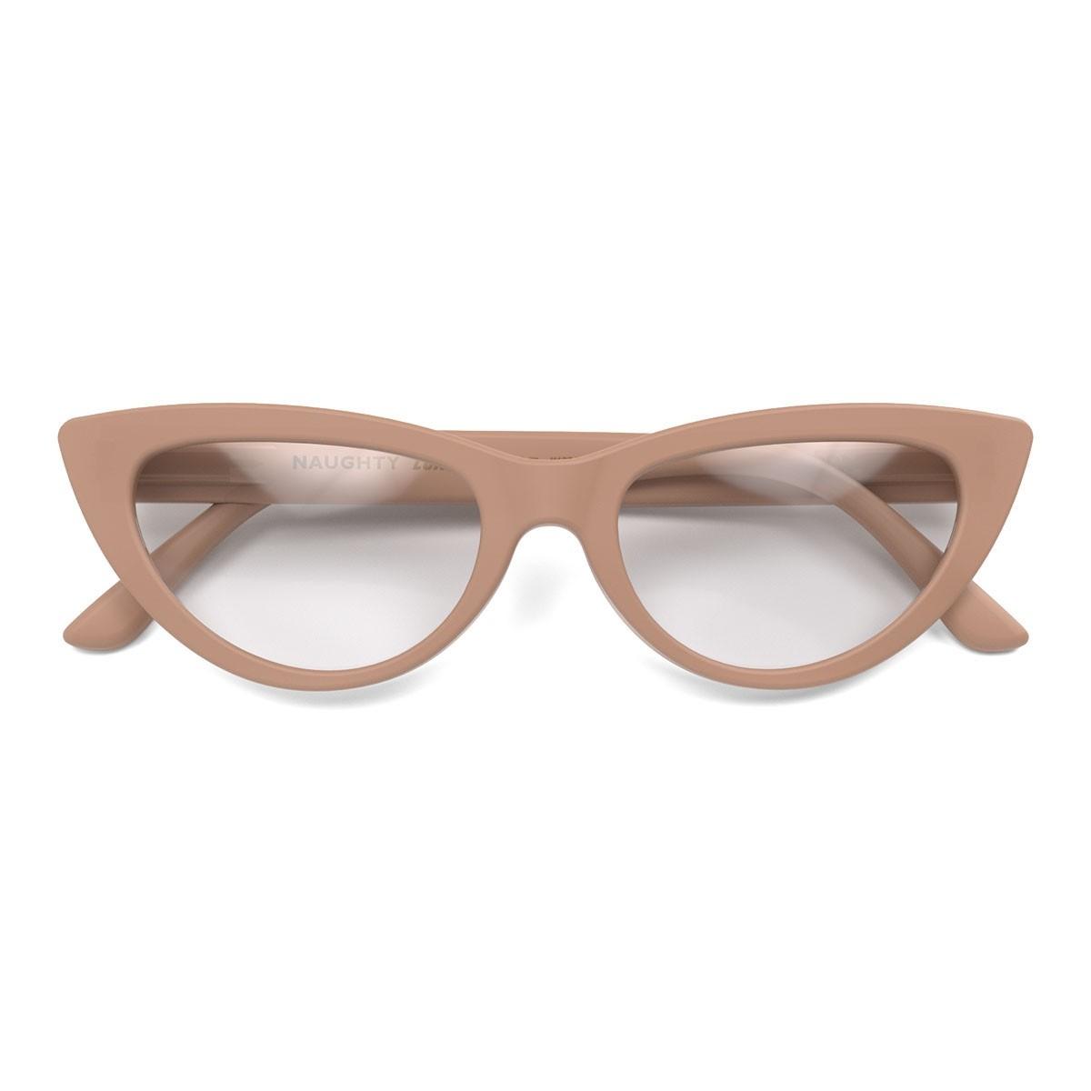 London Mole Naughty Blue Blocker Glasses Soft Pink