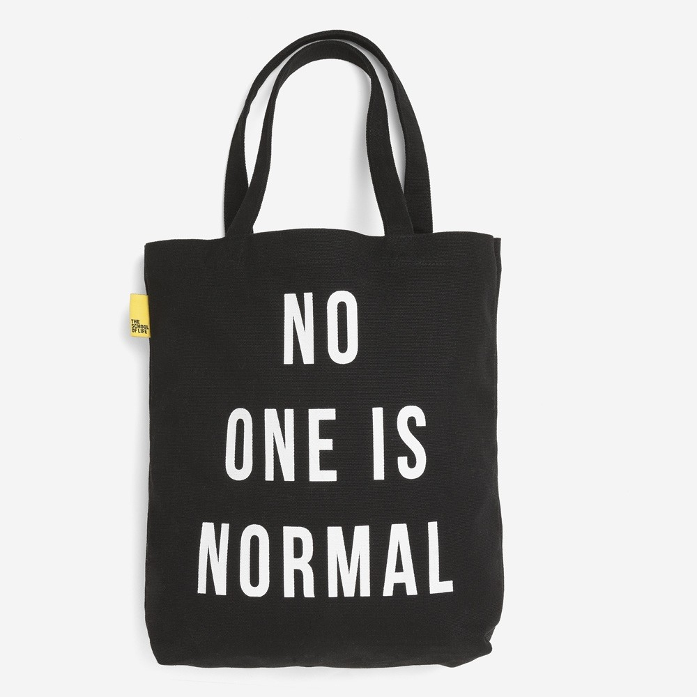 The School of Life 'No One is Normal' Tote Bag