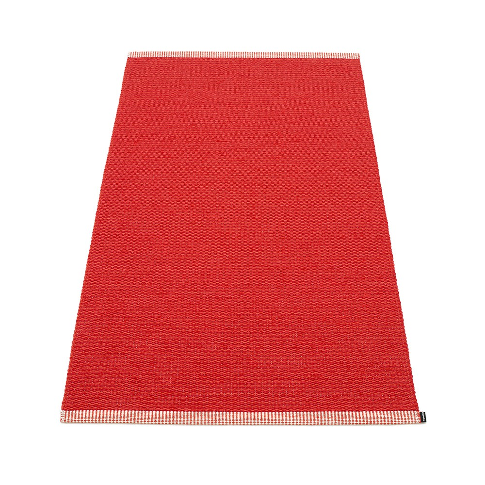 Pappelina Mono Rug Coral Red