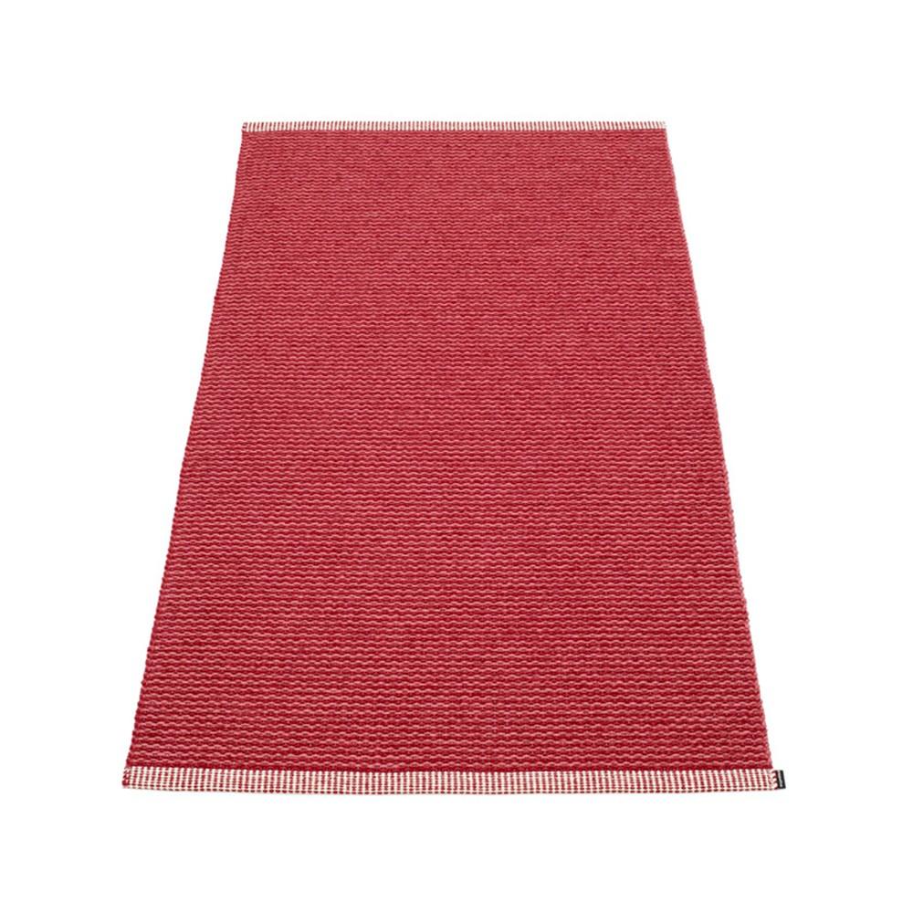 Pappelina Mono Rug Blush Dark Red