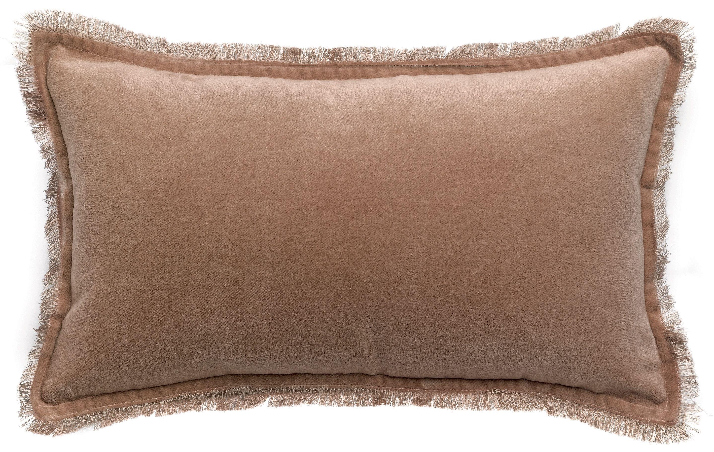 Vivaraise Fara Sesame Rectangular Velvet Cushion