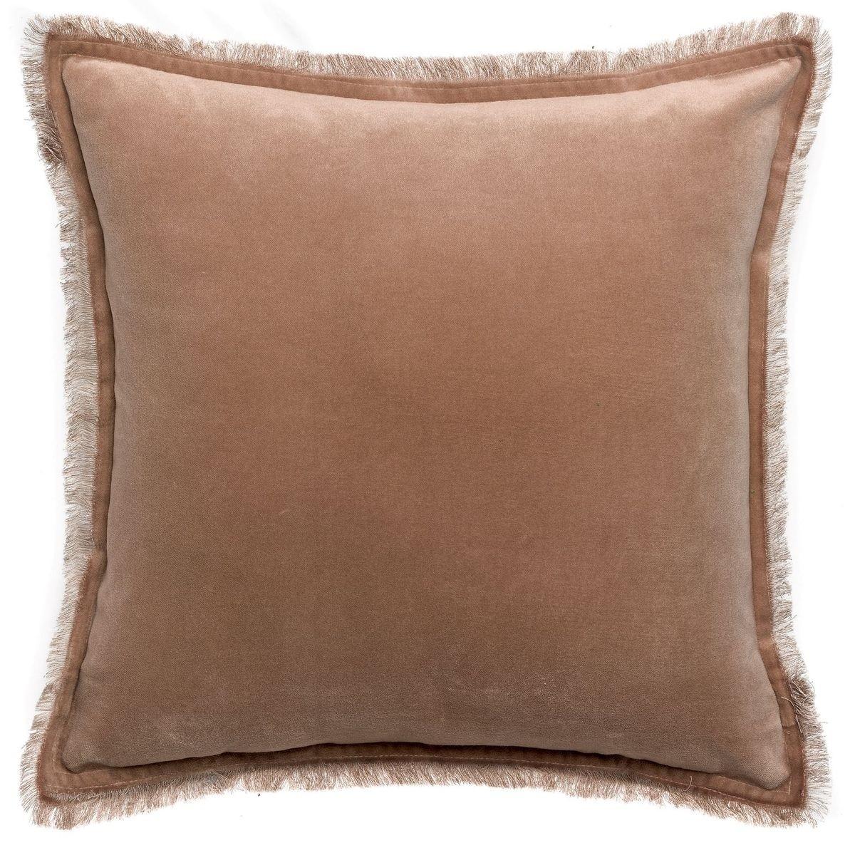 Vivaraise Fara Sesame Square Velvet Cushion