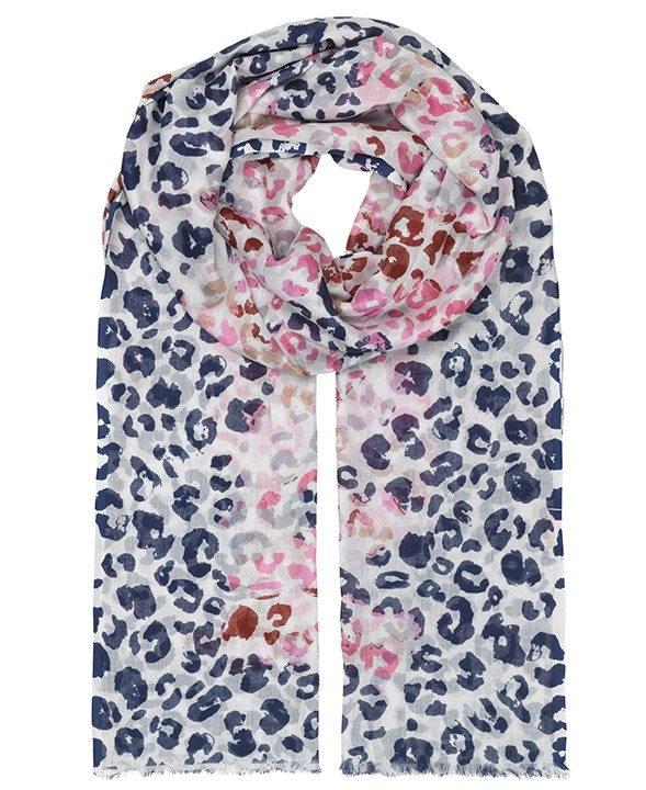 Unmade Fandango Pink Leopard Print Sakina Scarf