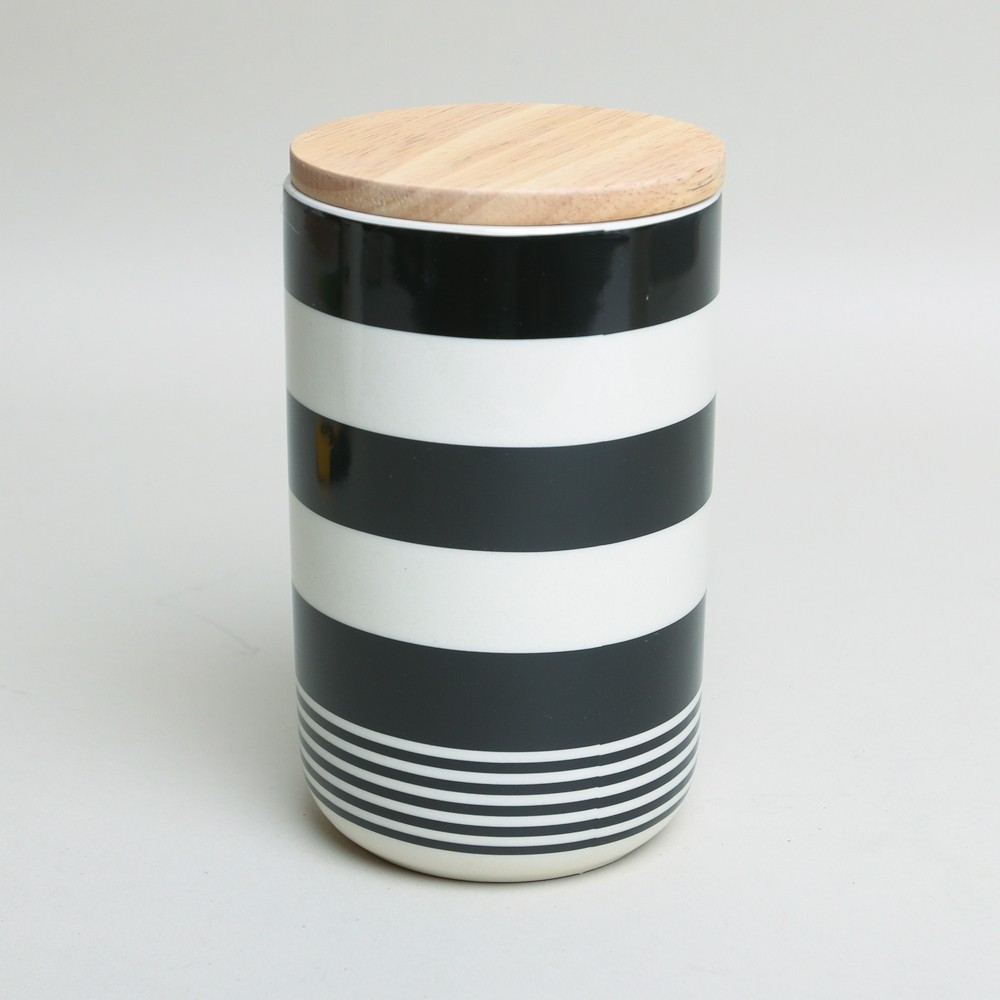 Bloomingville Ceramic Kitchen Storage Container Stripe Printer