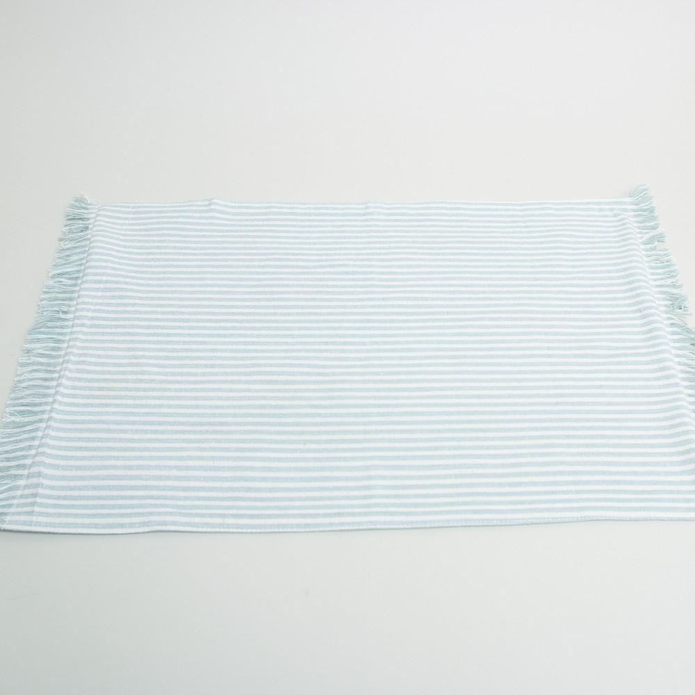 Raine and Humble Abby Striped Placemats Powder Blue