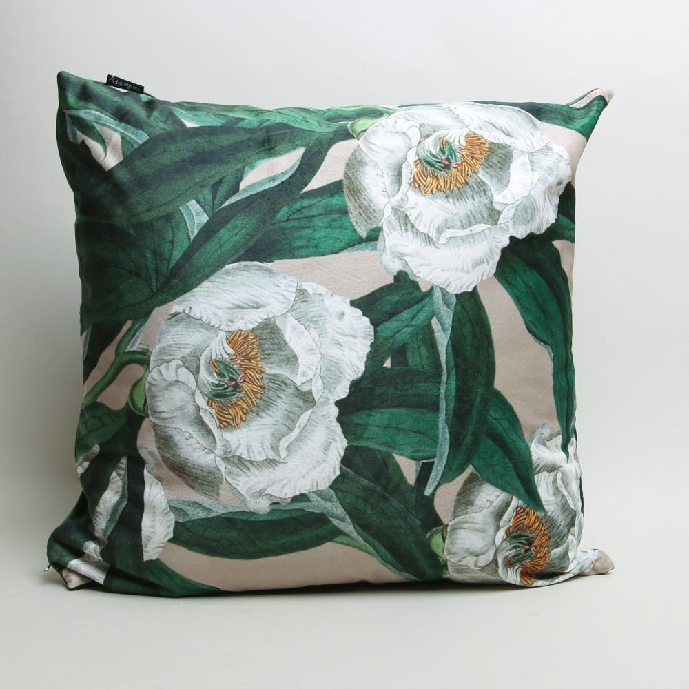 Vanilla Fly Overblown Blossom Cushion