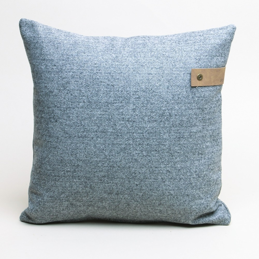 Shepherd of Sweden Sandro Dark Grey Herringbone Cushion