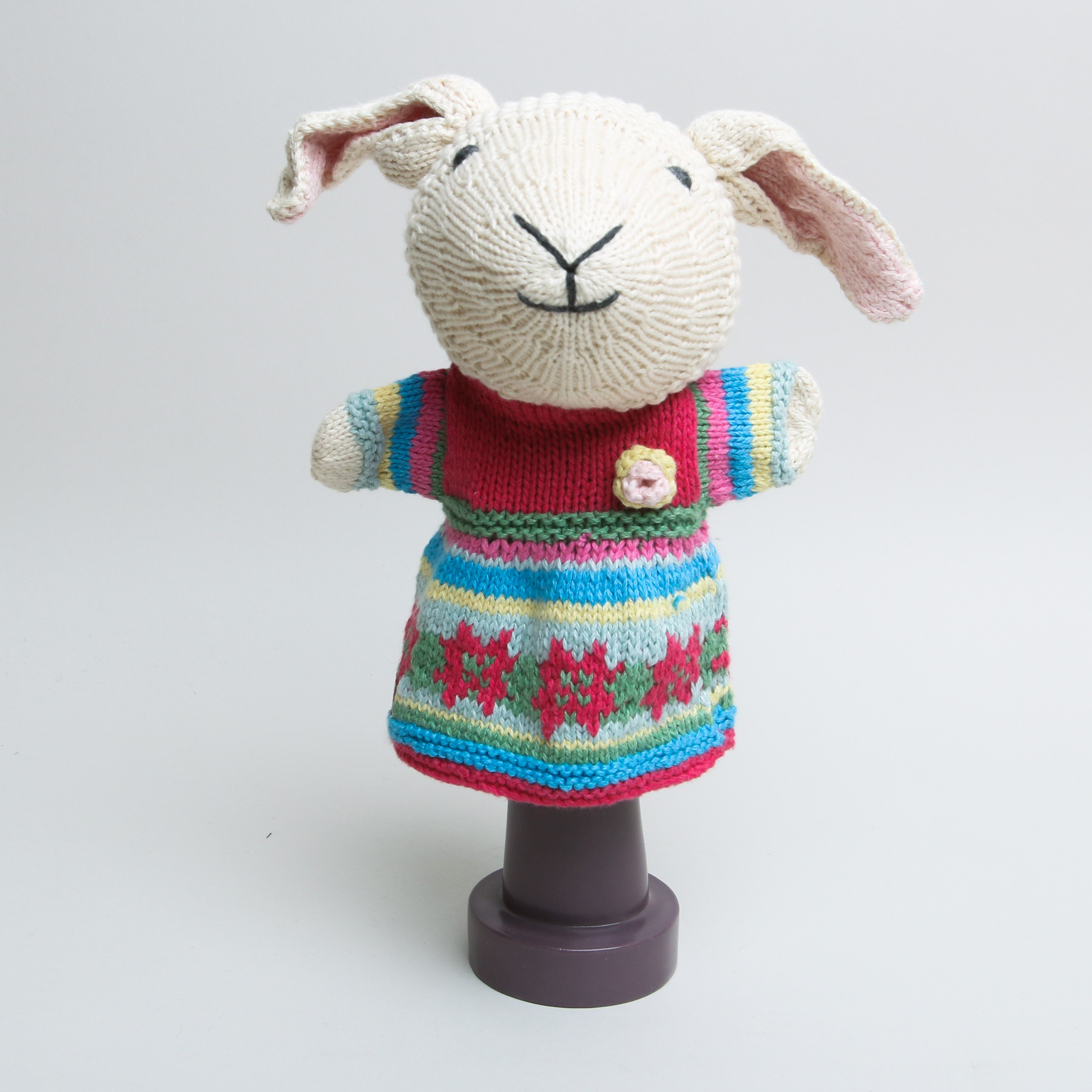 Chunky Chilli Hand Puppet Colourful Sheep