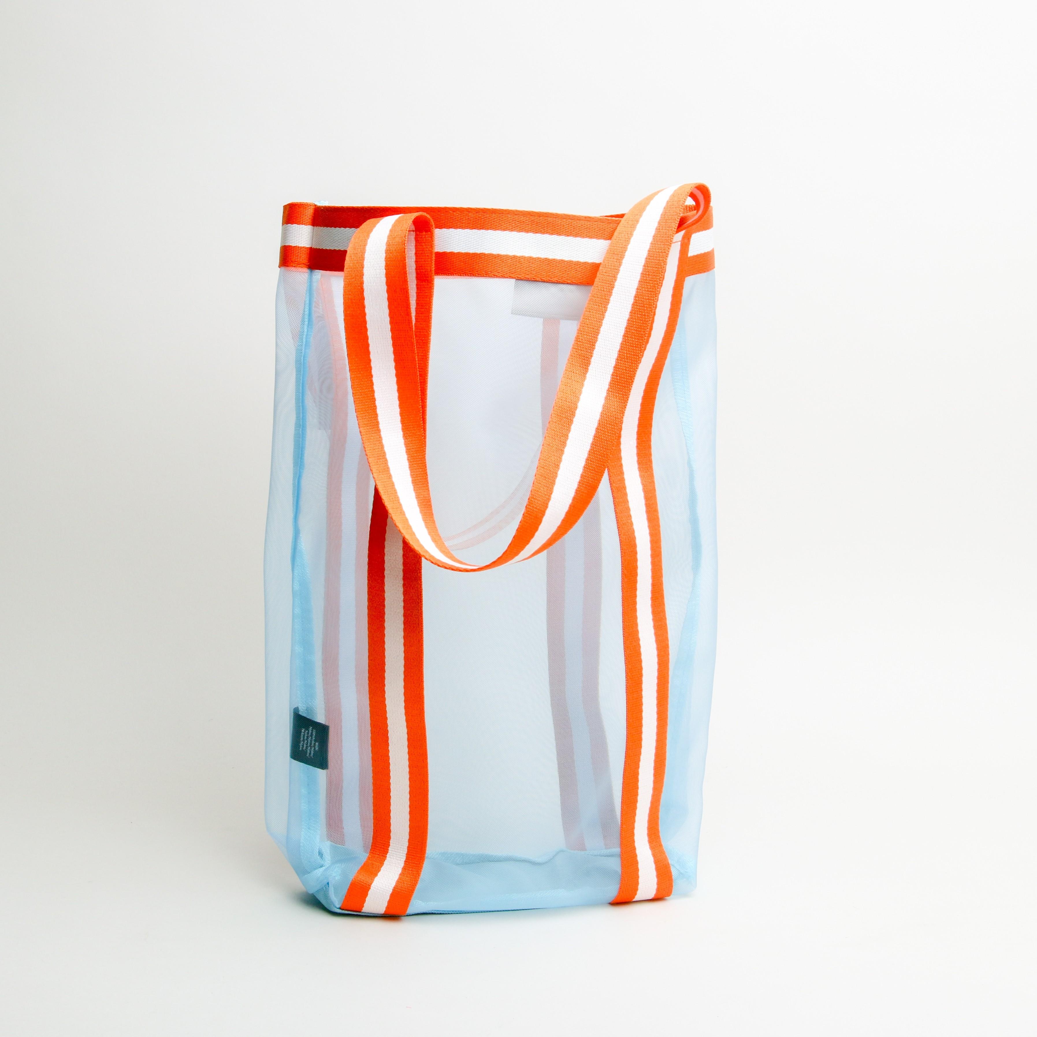 Unmade Net Shopping Bag Blue/Orange