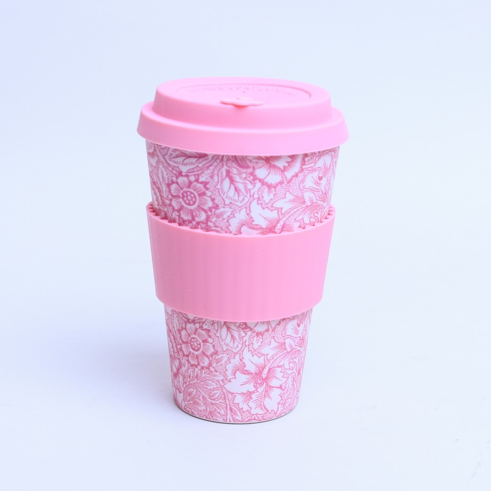 Keep Cup Ecoffee William Morris Poppy Bamboo Travel Cup