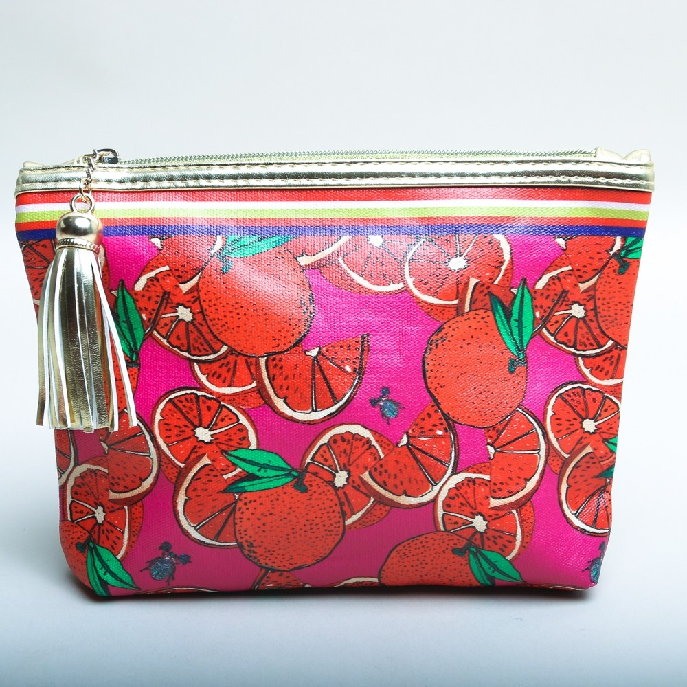 Jessica Russell Flint Cosmetic Bag 'The Oranges'