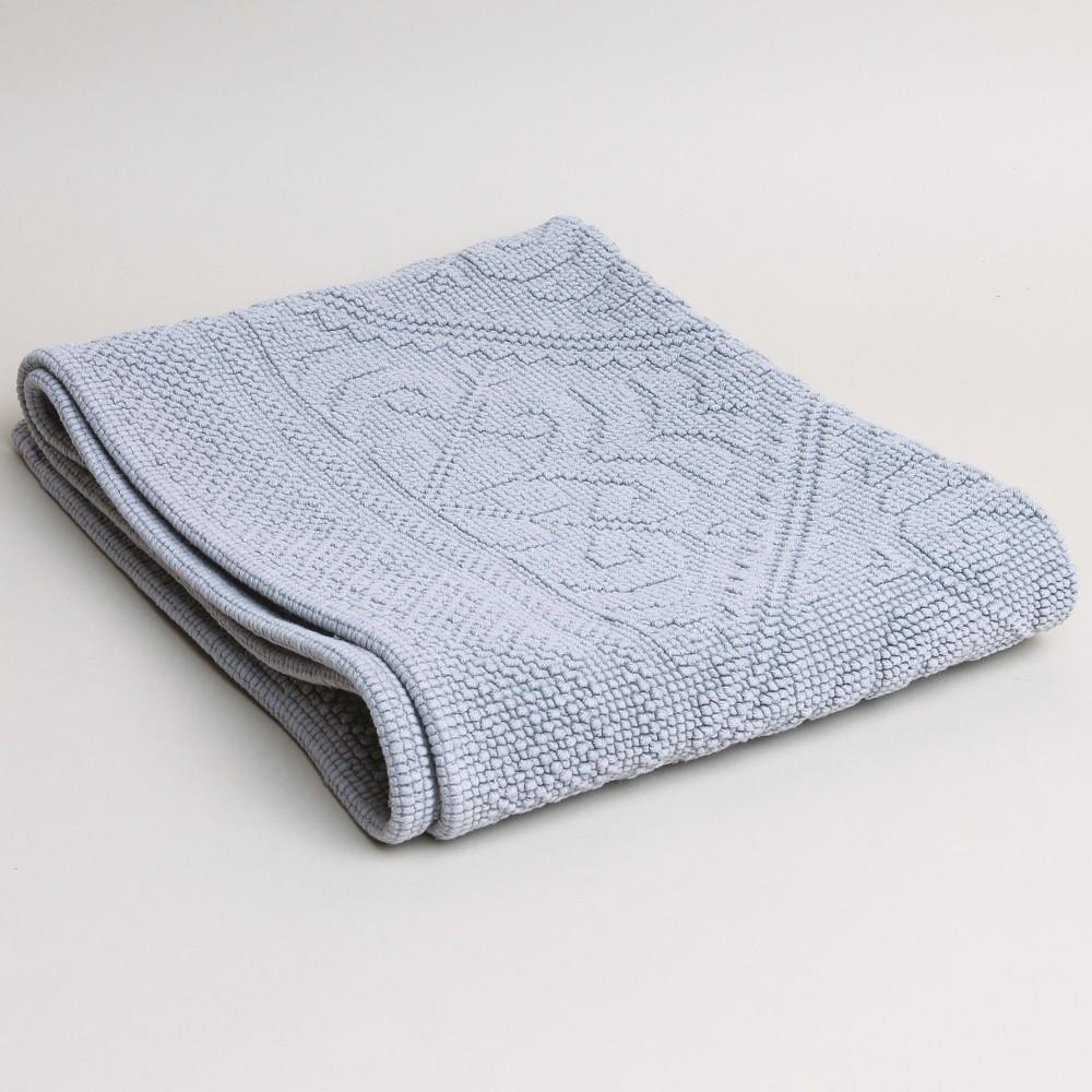 Vivaraise Enzo Extra Long Bath Mat Orage Blue Grey Printer Tailor