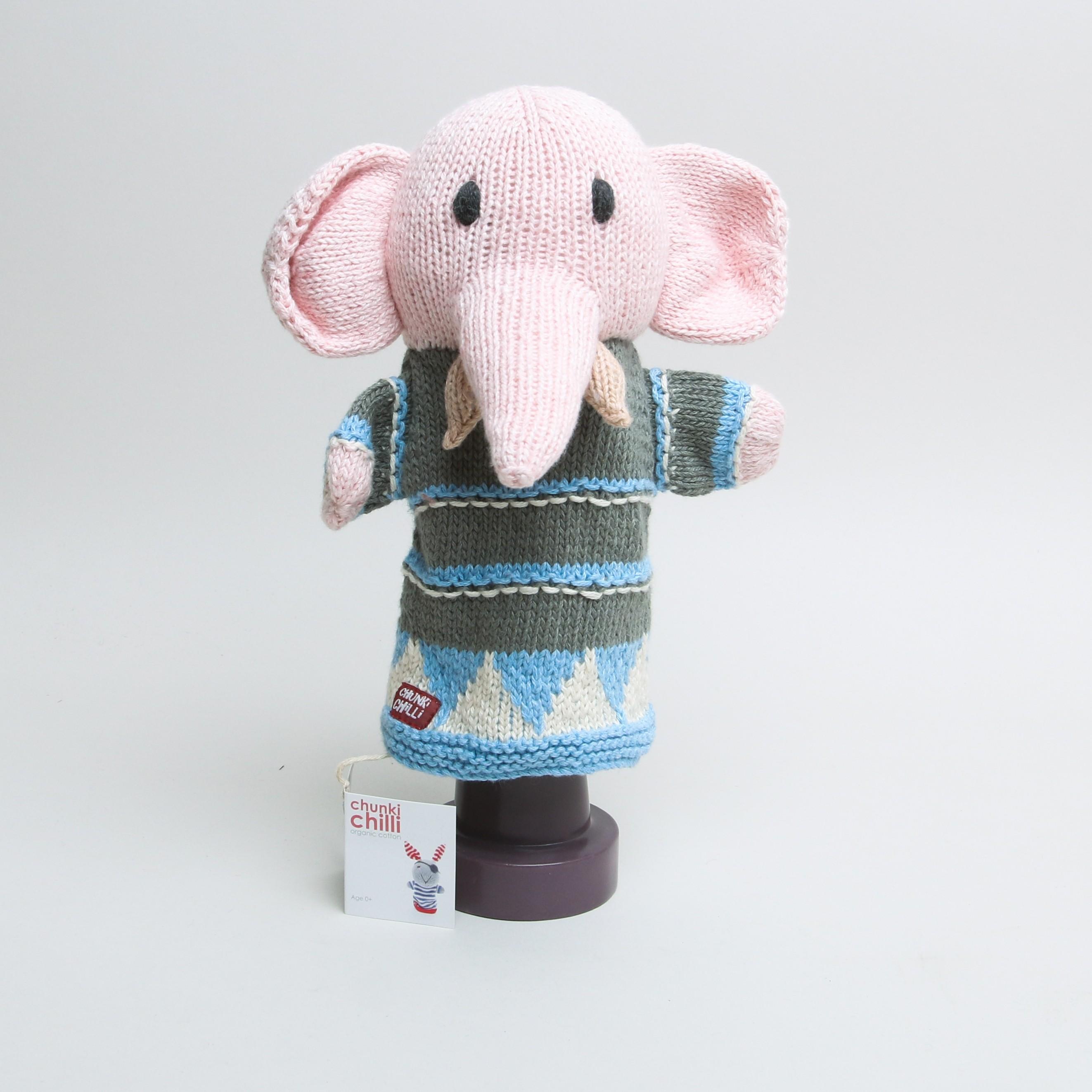 Chunky Chilli Hand Puppet Elephant